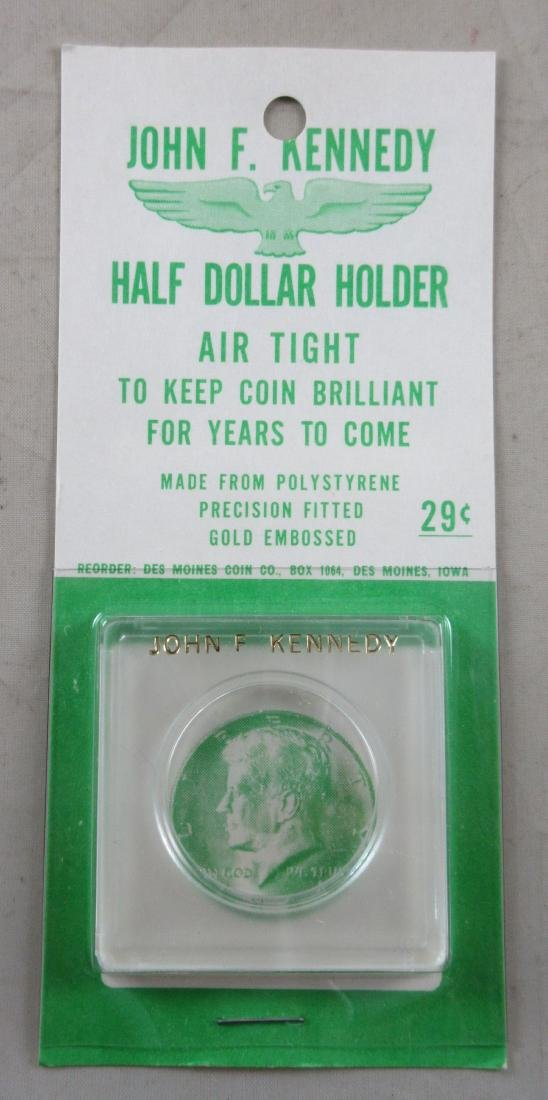 Carded 1964 John F. Kennedy Half Dollar Holder. New,