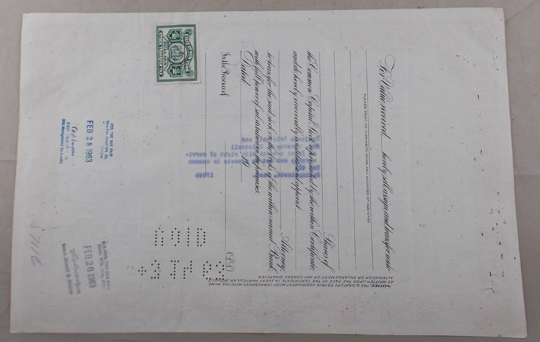 The Meadow Brook National Bank Stock Certificate - - 2