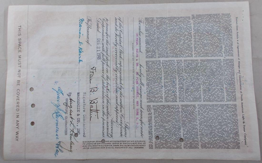 Stock Certificate from North American Light & Power - 2