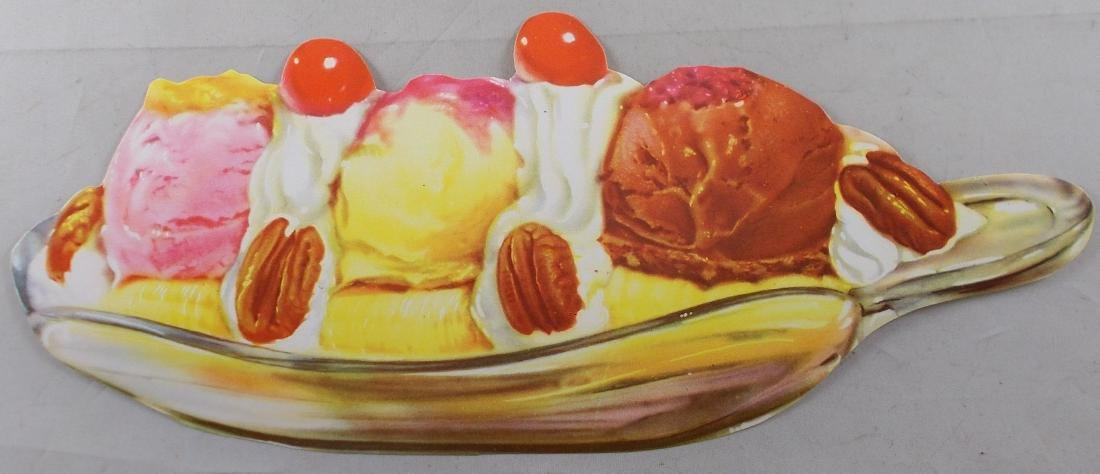 1950's Banana Split Diner Sign. Found in original