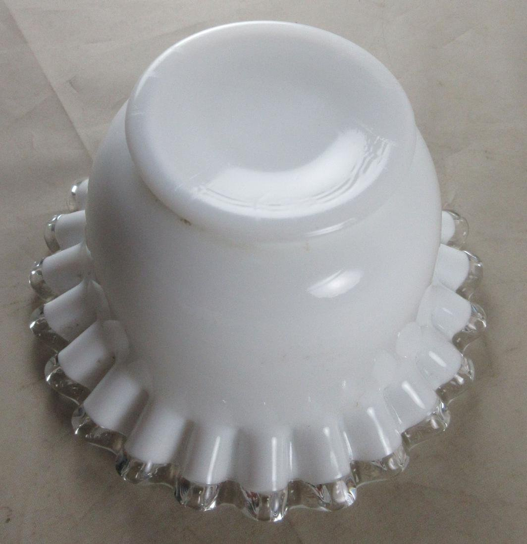 Milk Glass Bowl on Matching Base - 8
