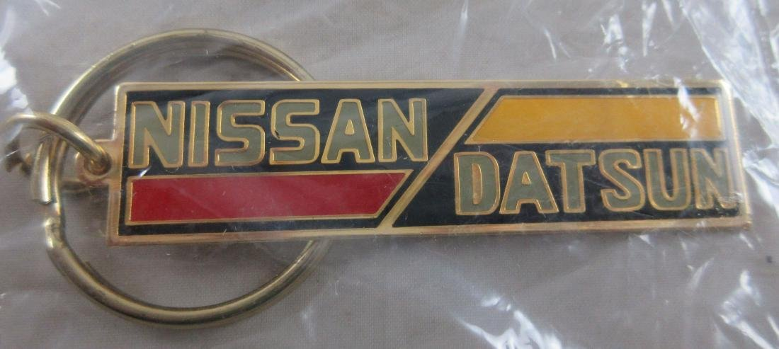 Nissan Datsun Keychain c. 1980's. Datsun name was - 2