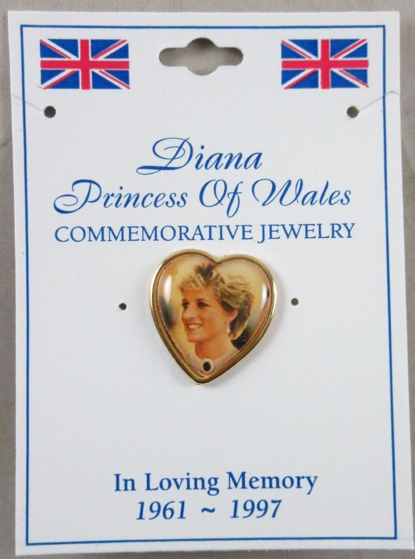 Princess Diana Commemorative Pin. Excellent unused