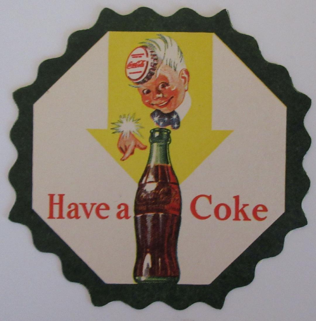 Coca Cola Sprite Boy Coaster. c.1950's