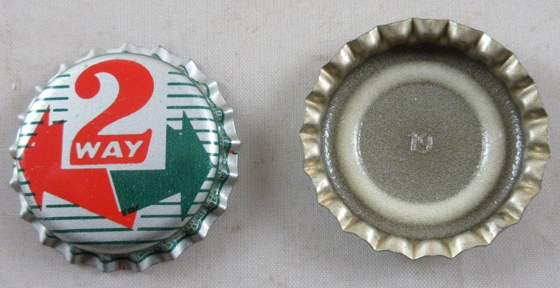 Lot of 2 Two Way Soda Plastic Lined Bottle Caps - 2