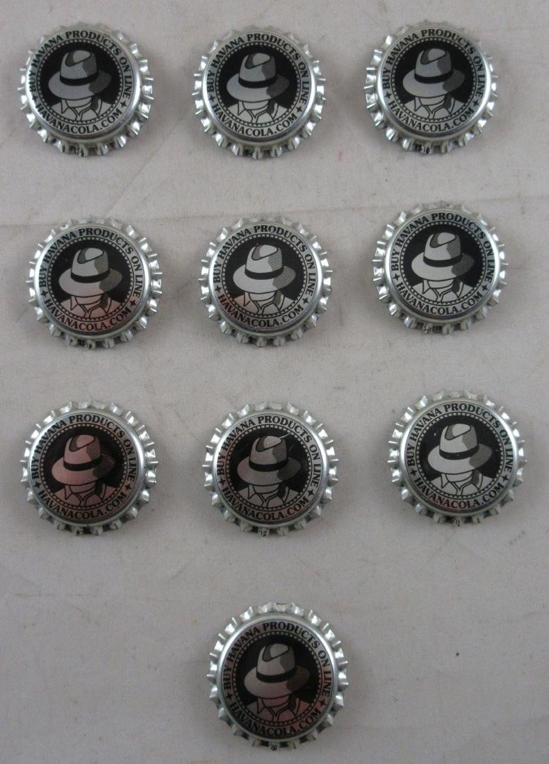 Lot of 10 Havana Cola plastic lined soda caps.