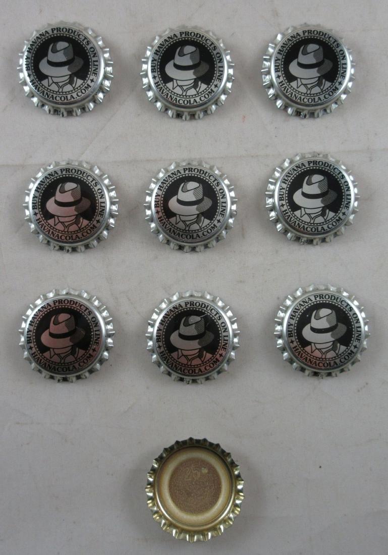 Lot of 10 Havana Cola plastic lined soda caps. - 2