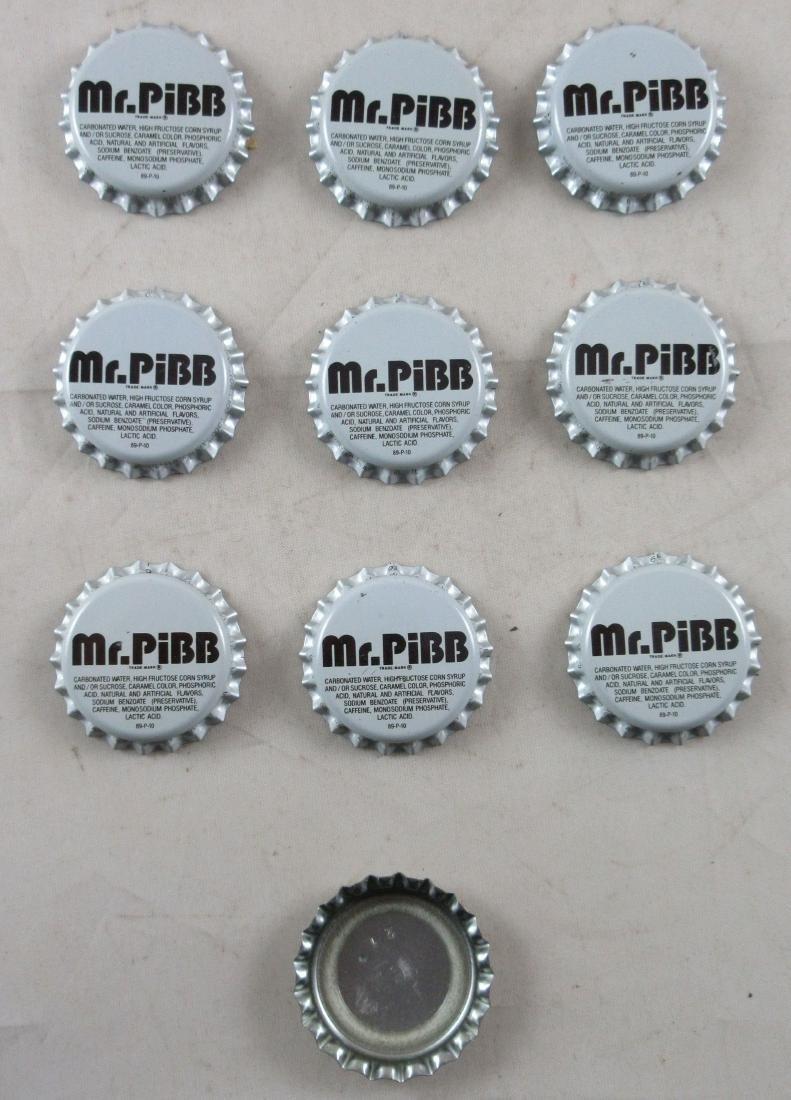 Vintage unused plastic lined Mr. Pibb soda caps. Coke - 2