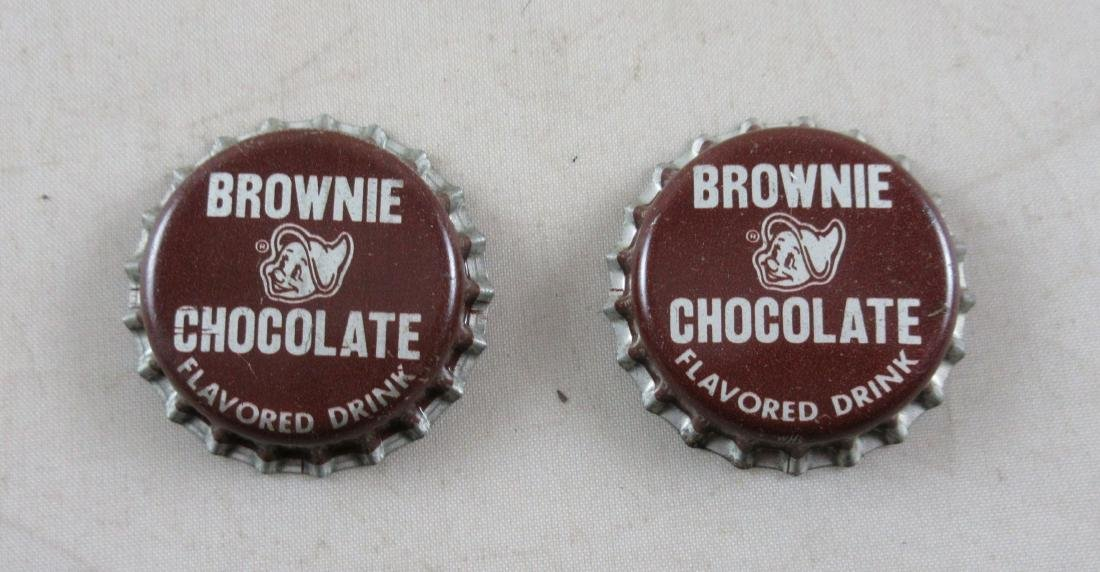Lot of 2 Vintage cork lined Brownie chocolate bottle