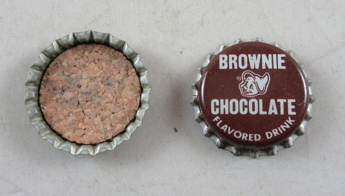 Lot of 2 Vintage cork lined Brownie chocolate bottle - 2