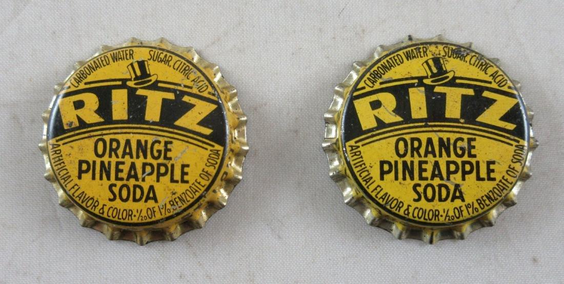 Ritz Orange Pineapple Cork Lined Bottle Cap. c.1940's