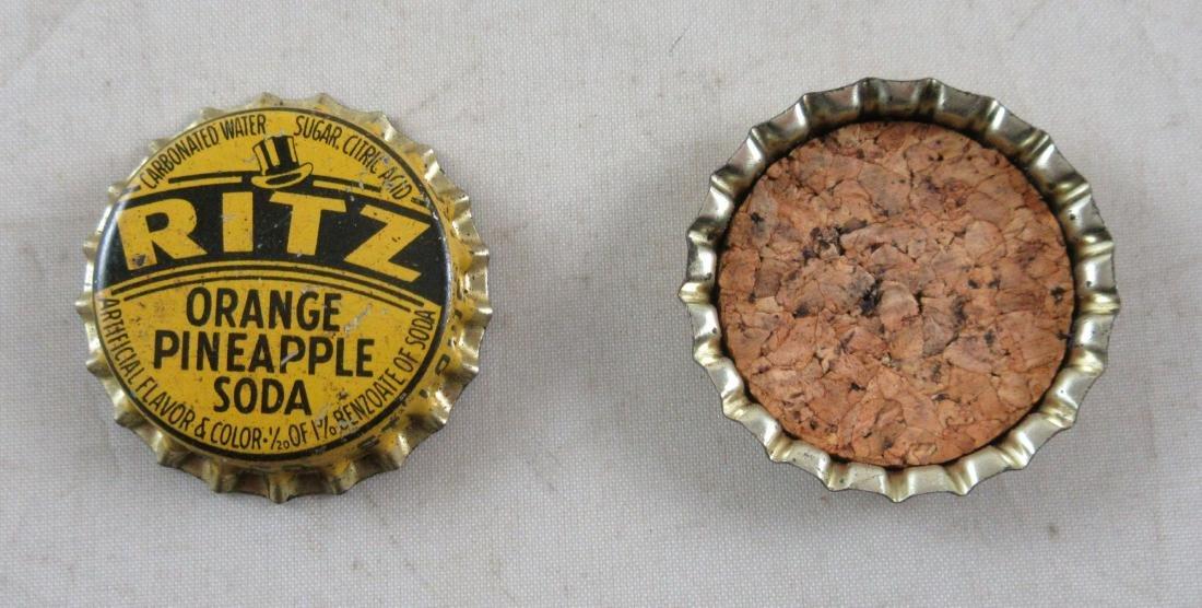 Ritz Orange Pineapple Cork Lined Bottle Cap. c.1940's - 2