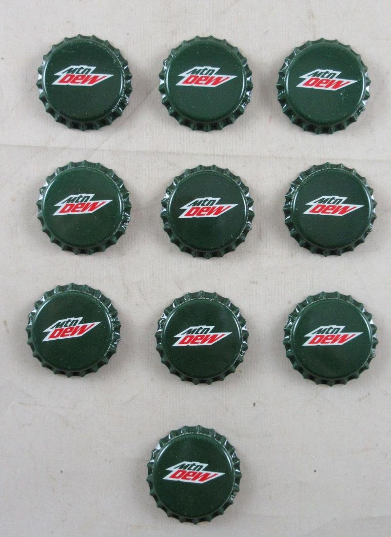 Lot of 10 Deep Green Mountain Dew Plastic Lined Soda