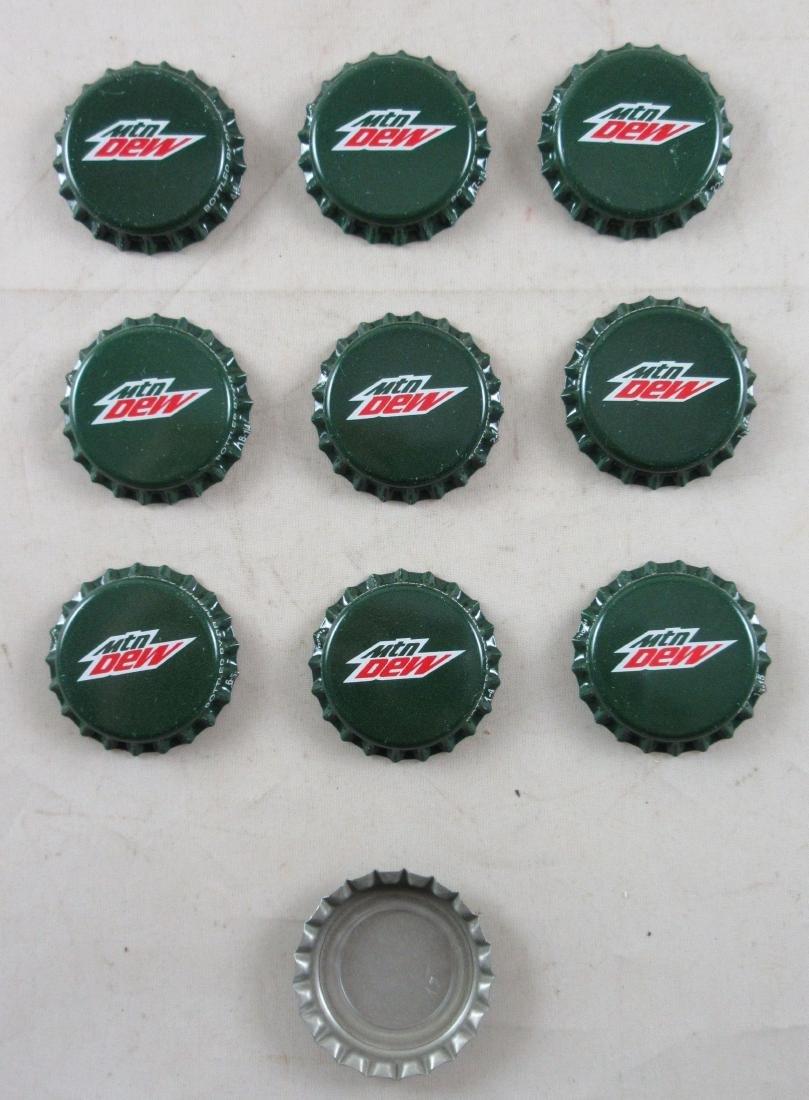 Lot of 10 Deep Green Mountain Dew Plastic Lined Soda - 2
