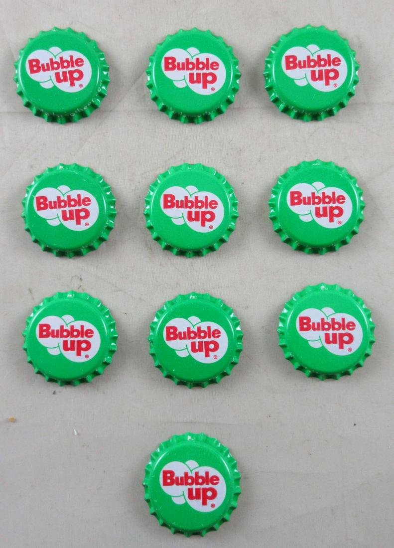 Lot of 10 Bubble Up Plastic Lined Soda Caps