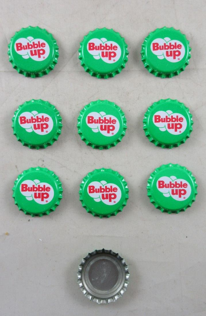 Lot of 10 Bubble Up Plastic Lined Soda Caps - 2