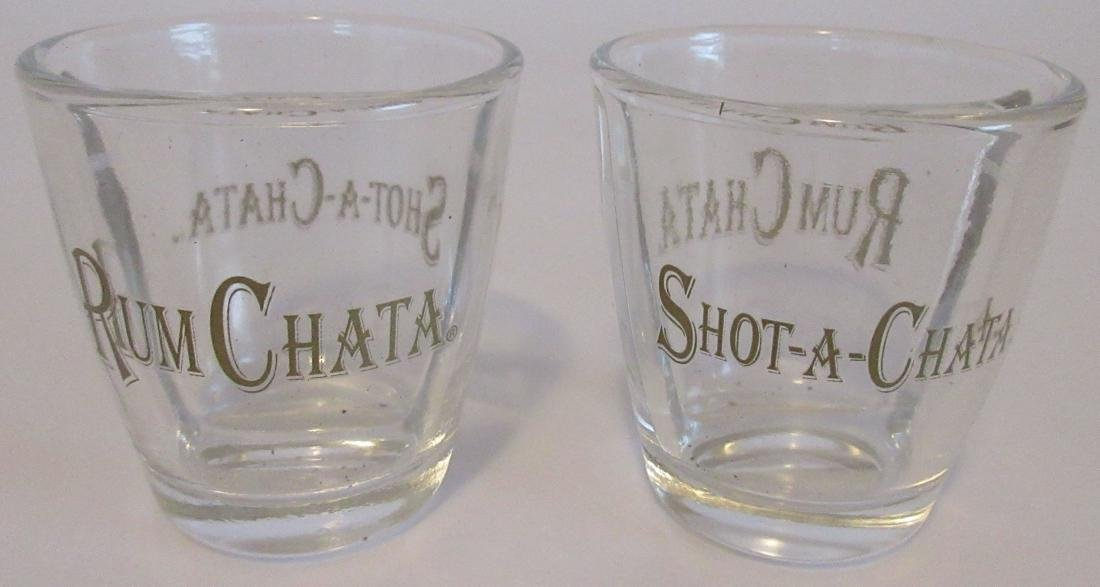 2 Rum Chata Divided Shot Glasses – Brand New - 3