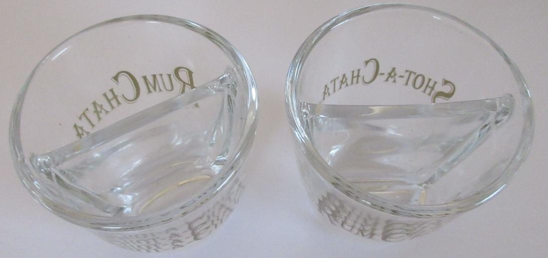 2 Rum Chata Divided Shot Glasses – Brand New - 4