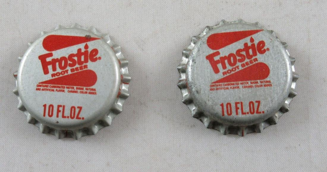 Lot of 2 Vintage 1960s cork lined Frostie Root Beer