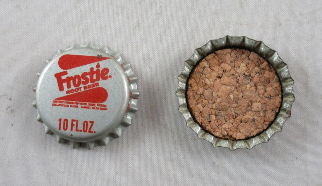 Lot of 2 Vintage 1960s cork lined Frostie Root Beer - 2