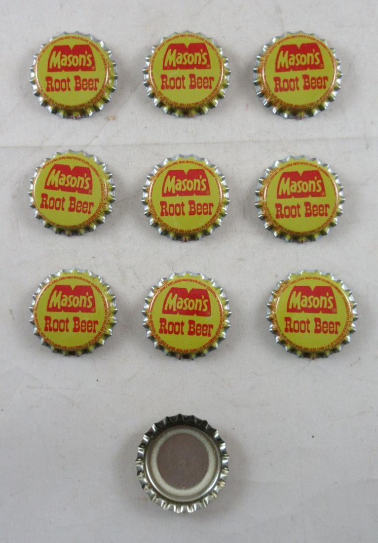 Lot of 10 Vintage Mason's Root Beer plastic lined soda - 2