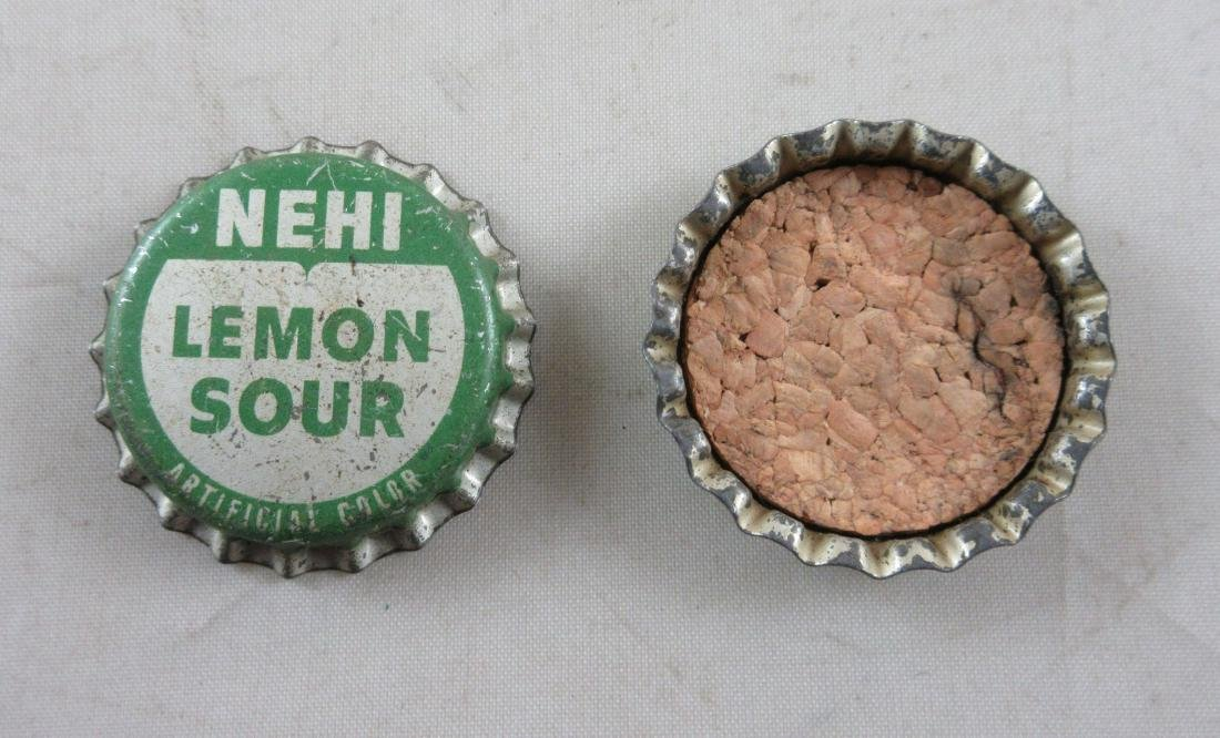 Lot of 2 Vintage cork lined Nehi Lemon Sour Soda bottle - 2