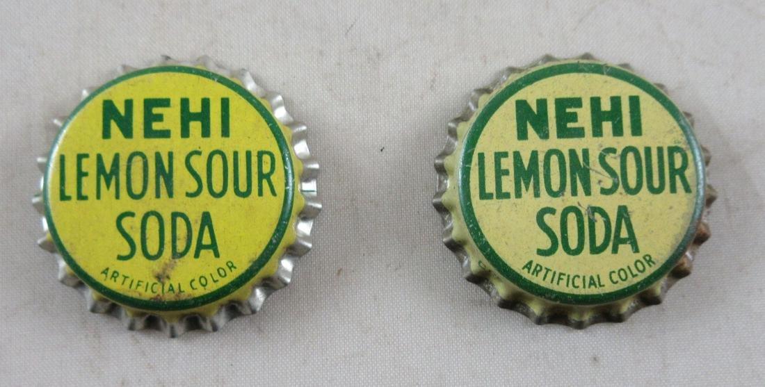 Lot of 2 Early cork lined Nehi Lemon Sour Soda bottle