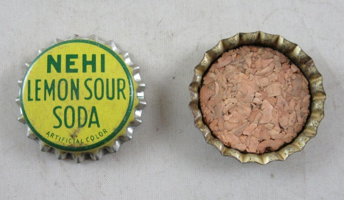Lot of 2 Early cork lined Nehi Lemon Sour Soda bottle - 2