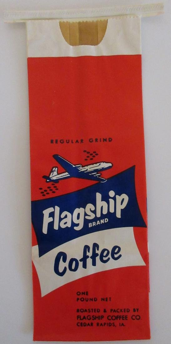 Scarce Unused Flagship Coffee Bag c1940s