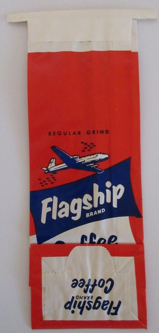 Scarce Unused Flagship Coffee Bag c1940s - 2
