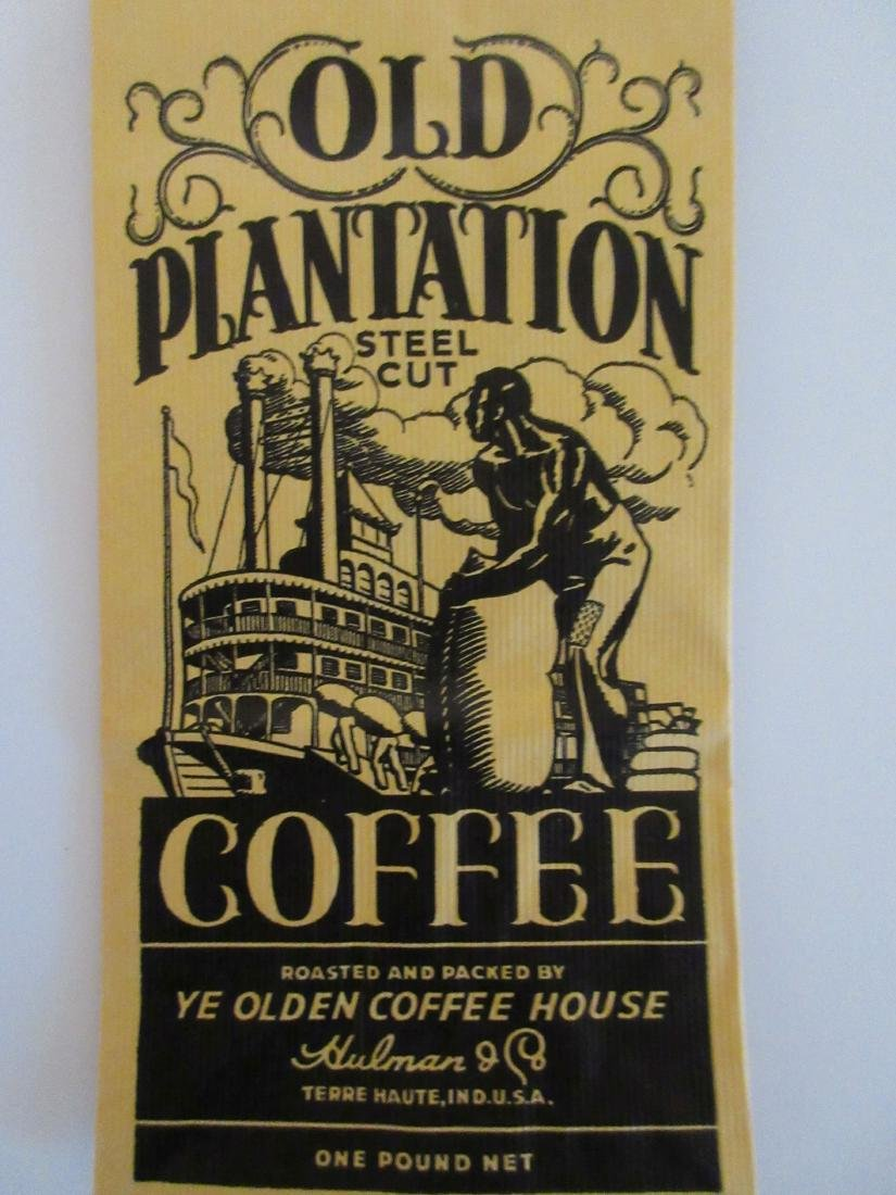 "Rare 9"" Old Plantation coffee bag. c.1930's - 2"