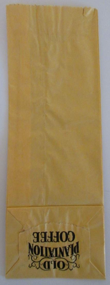 "Rare 9"" Old Plantation coffee bag. c.1930's - 3"