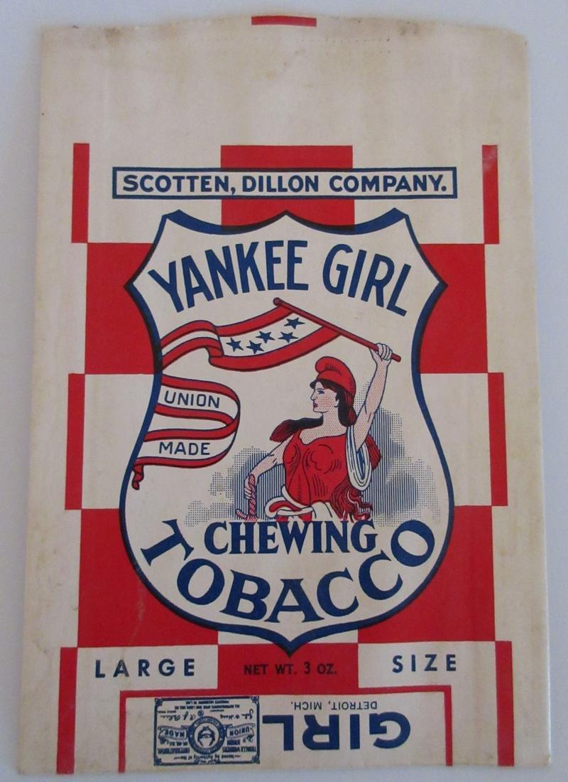 Yankee Girl Chewing Tobacco Bag. c.1940s - 2