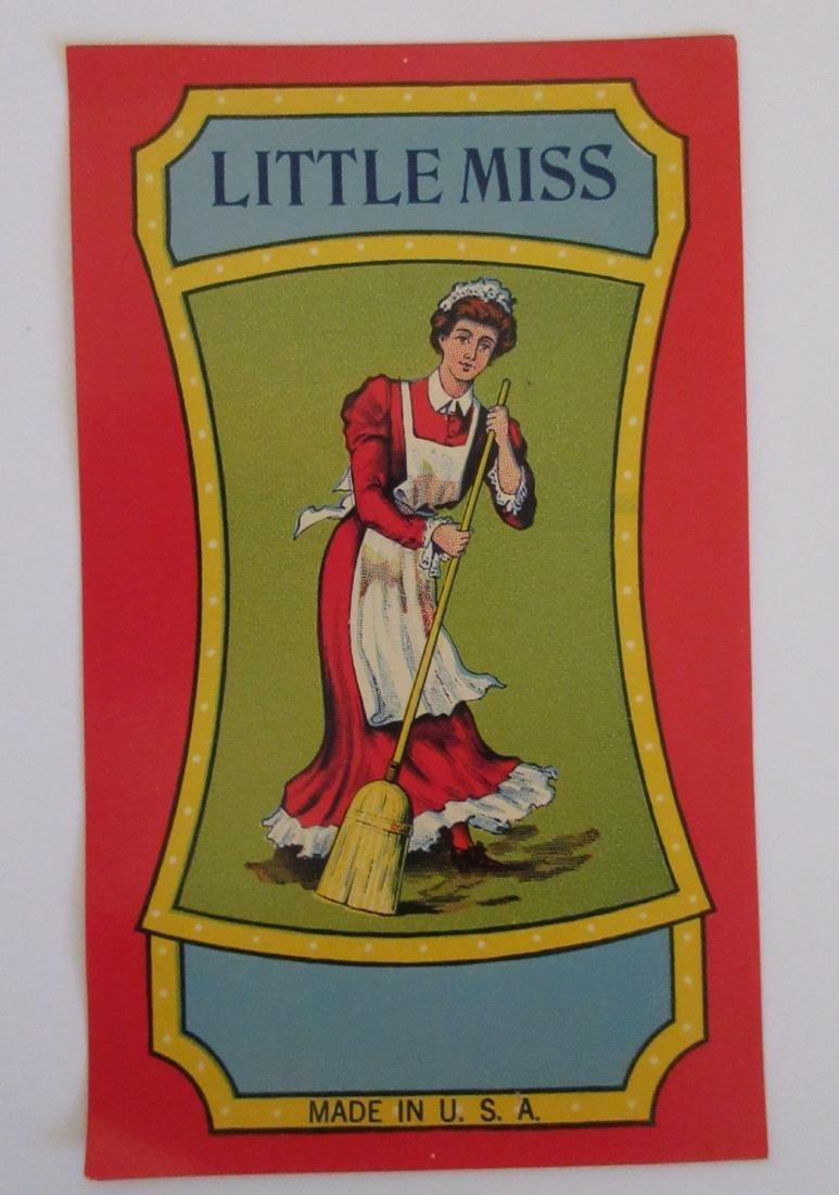 "Little Miss Broom Label. 6"". c.1930's"