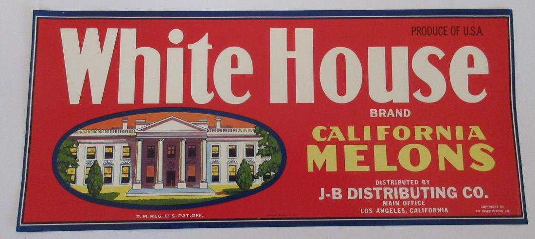 "Large vintage 13 1/2"" wide White House Brand California"