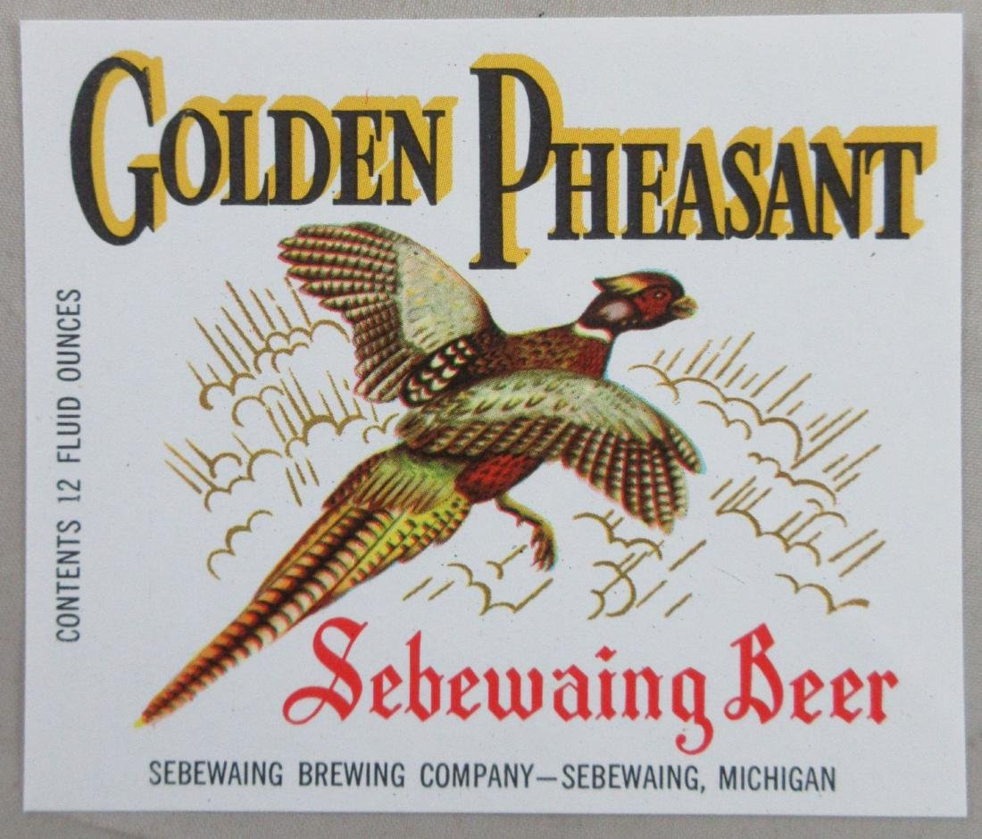 Golden Pheasant Sebewaing Beer Label