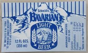 Bavarian Light Beer label. c.1960s