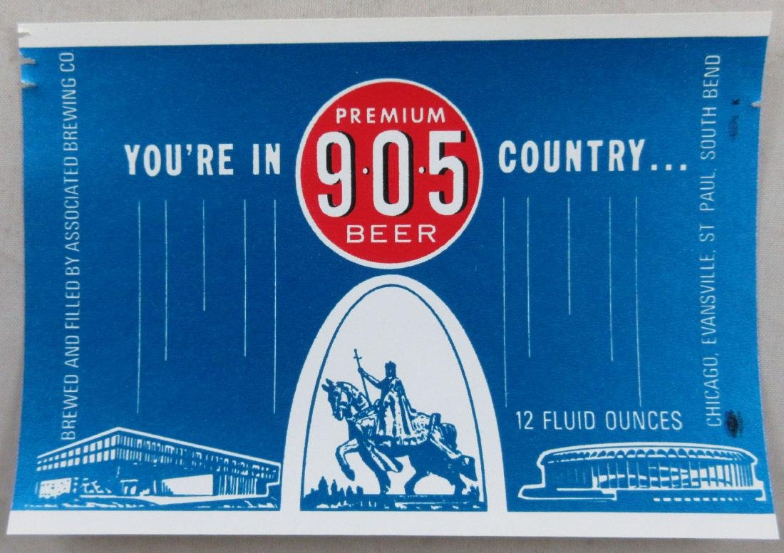 905 Beer Bottle Label. Existed from 1968 till 1972 when
