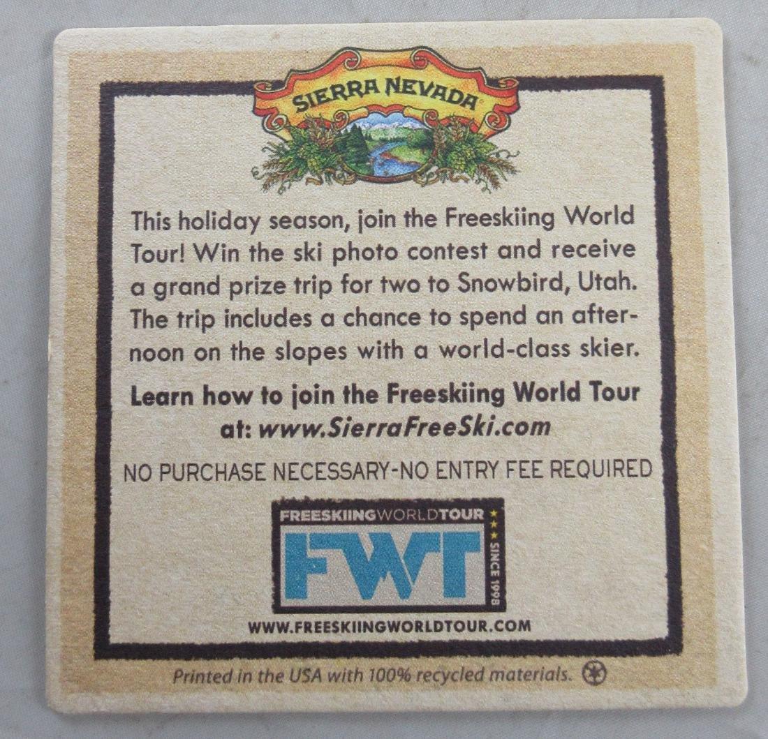 Sierra Nevada Beer Coaster Advertising the Freeskiing - 2
