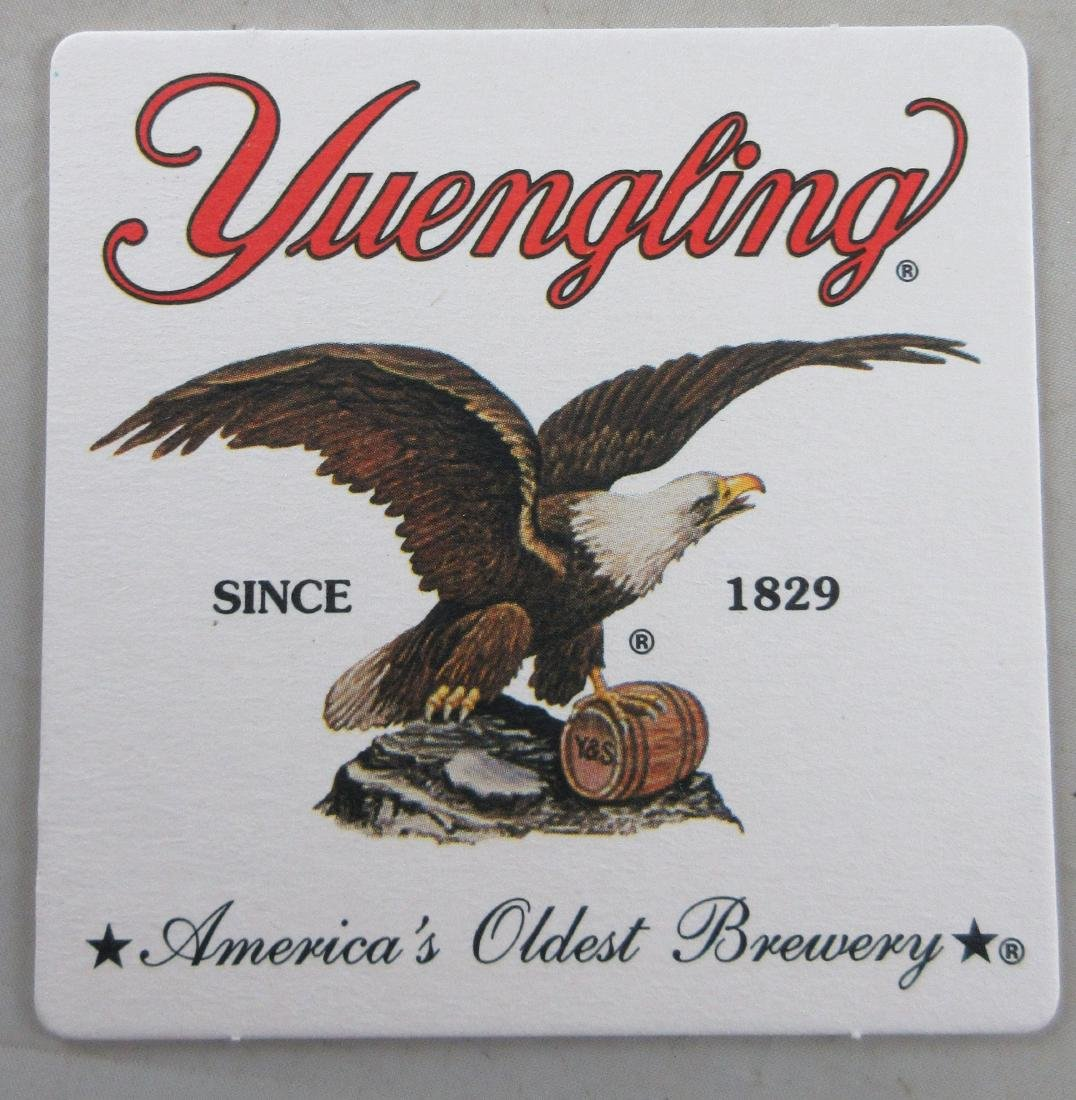 Yuengling Beer Coaster with Eagle. Double Sided. 25-40