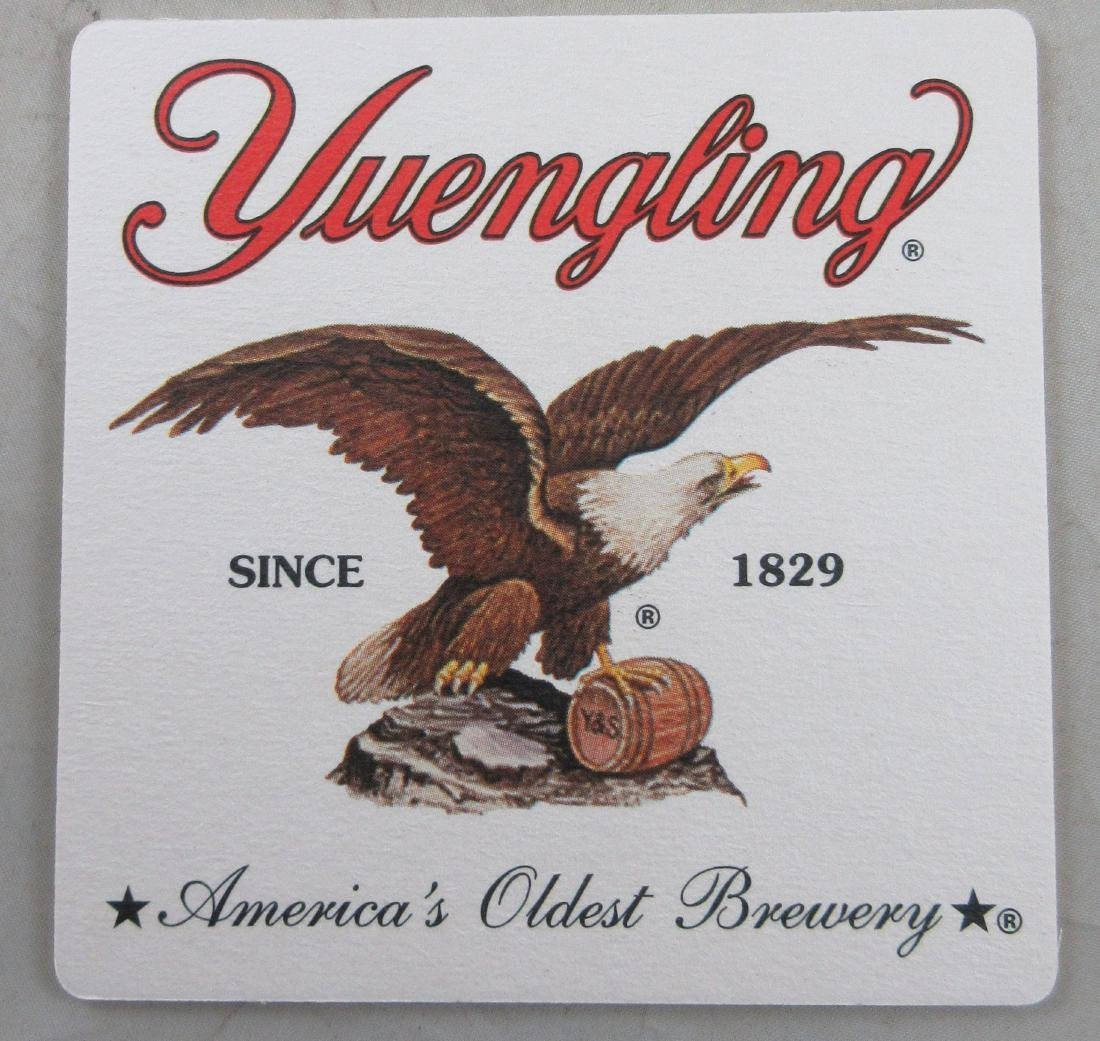 Yuengling Beer Coaster with Eagle. Double Sided. 25-40 - 2