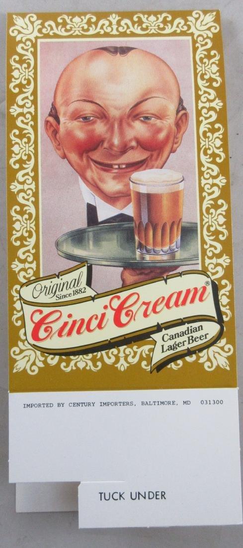 Cinci Cream Beer Advertising table Topper Tent.