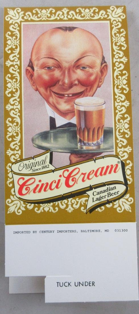 Cinci Cream Beer Advertising table Topper Tent.