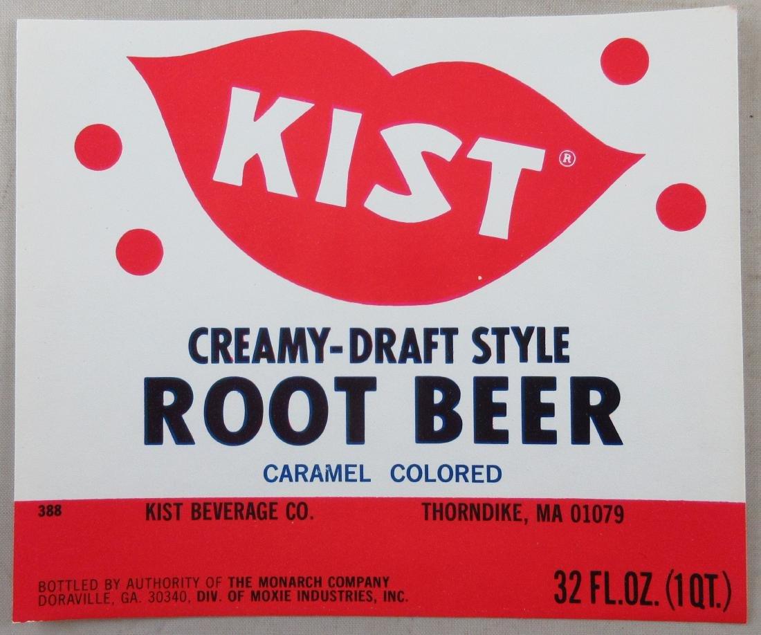 """Kist Root Beer Bottle Label 4-1/2"""" wide. c.1960s"""