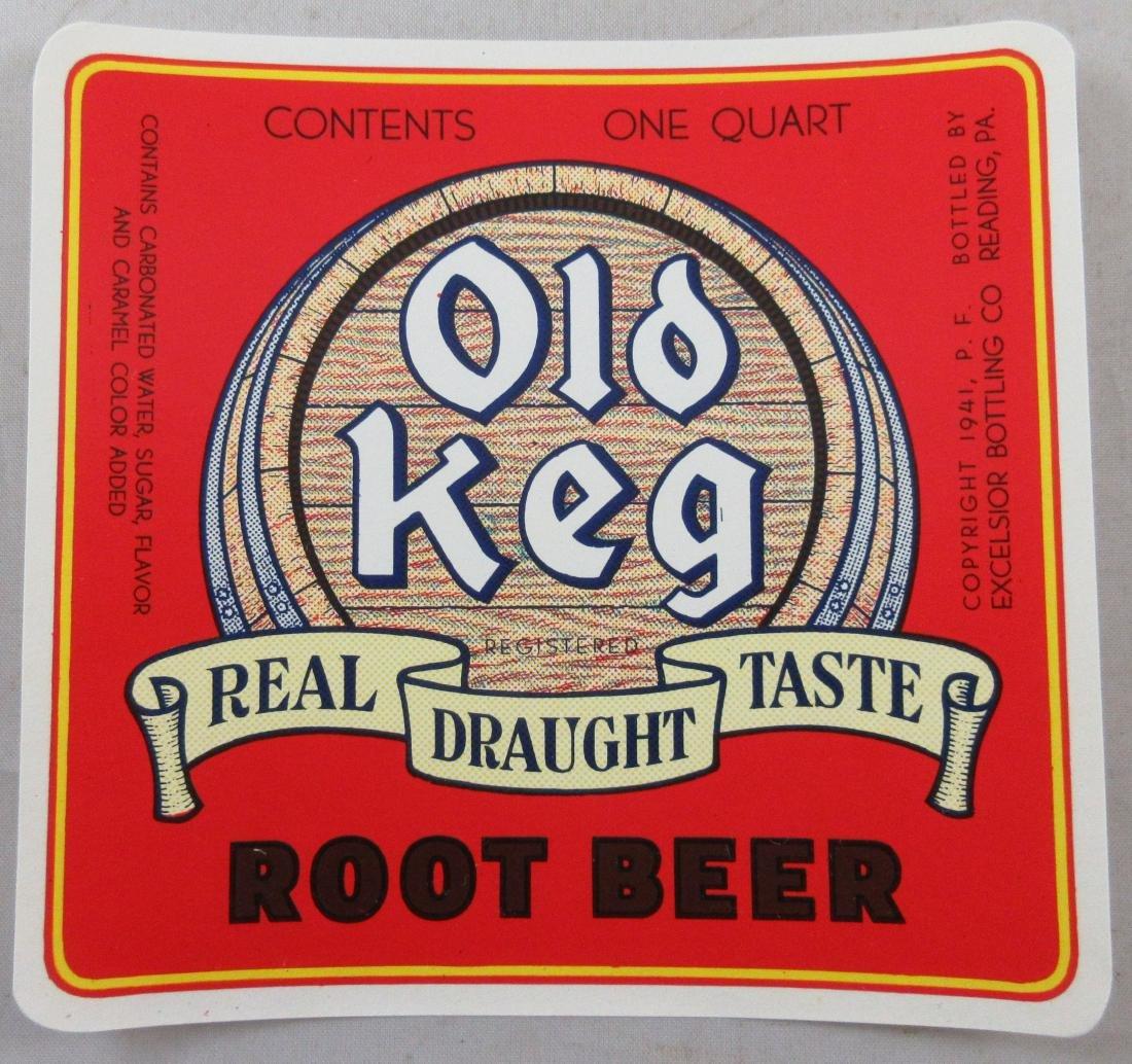 "Uncommon Old Keg Root Beer Bottle Label 4-1/4"" wide."