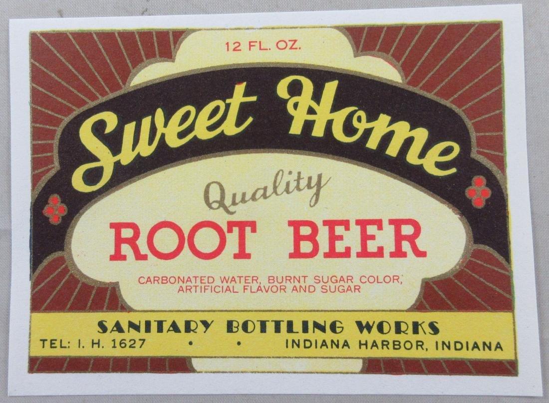 """Sweet Home Root Beer Soda Bottle Label 4"""" wide. c.1930s"""