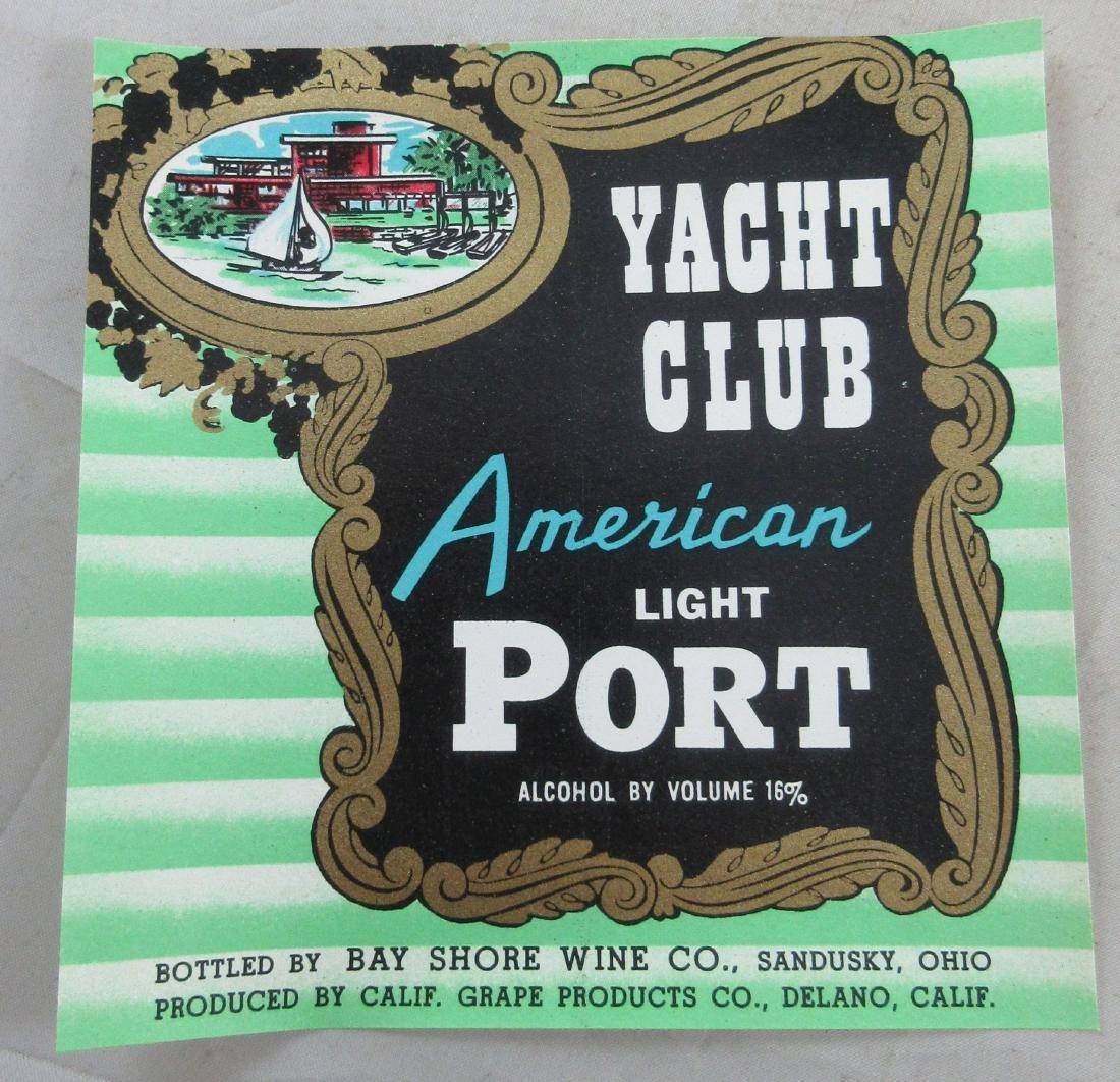 "Yacht Club American Light Port Wine Label 4-1/2"" tall."