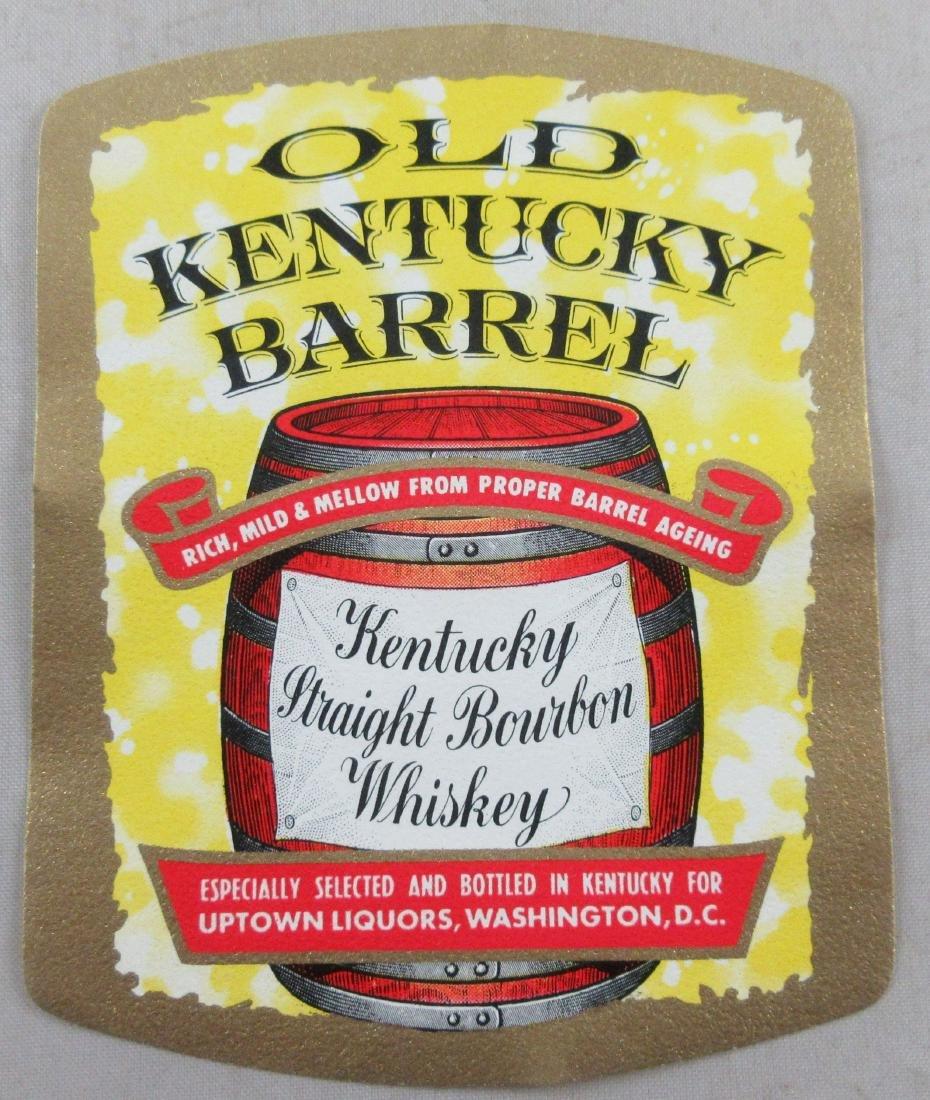 Old Kentucky Barrel Kentucky Bourbon Whiskey Label