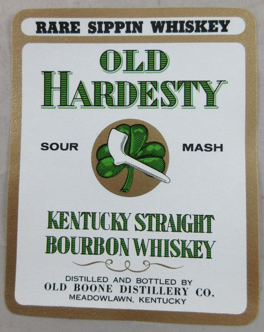 Old Hardesty Sour Mash Kentucky Straight Bourbon Whisky