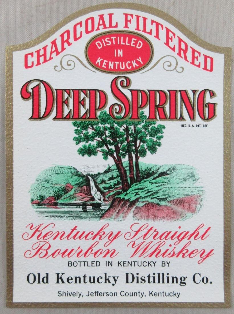 Deep Spring Kentucky Straight Bourbon Whiskey label.